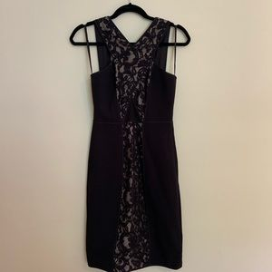 BCBGMaxazria Little Black Lace Dress